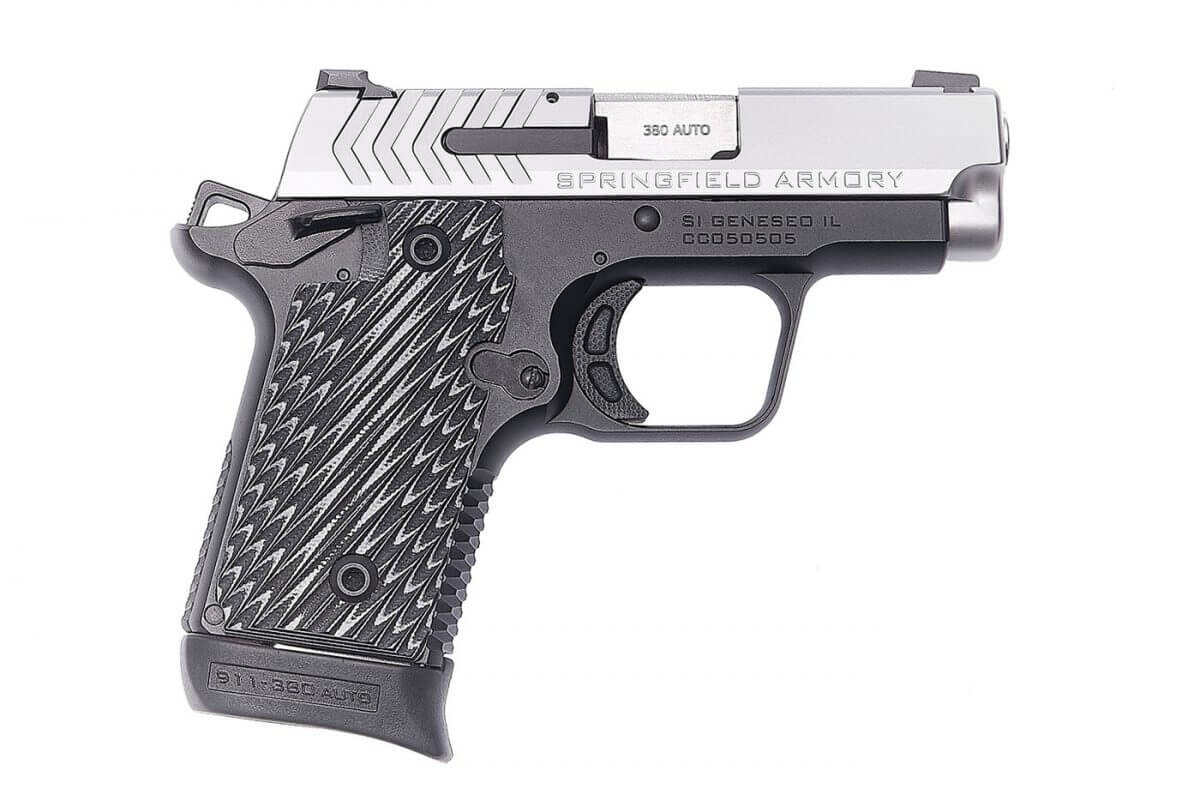 Side view of the new Springfield 911 pistol