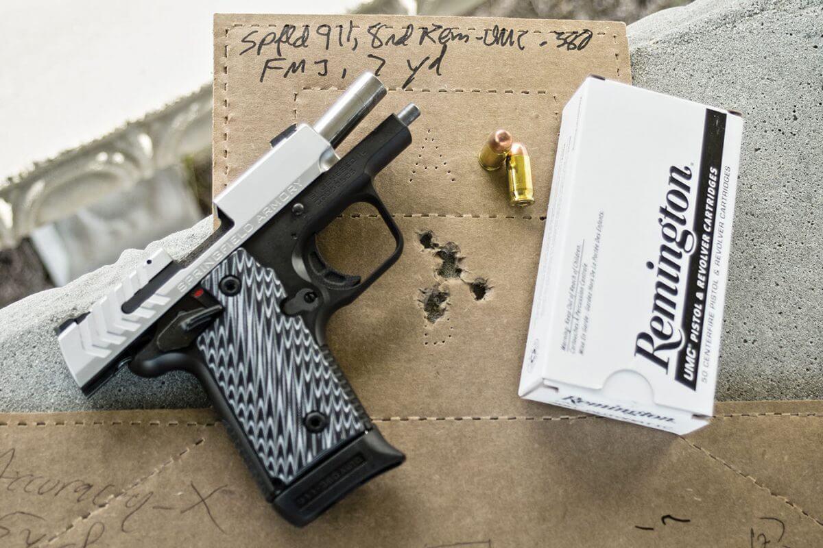 Shot group accuracy measurement of Remington UMC ammo