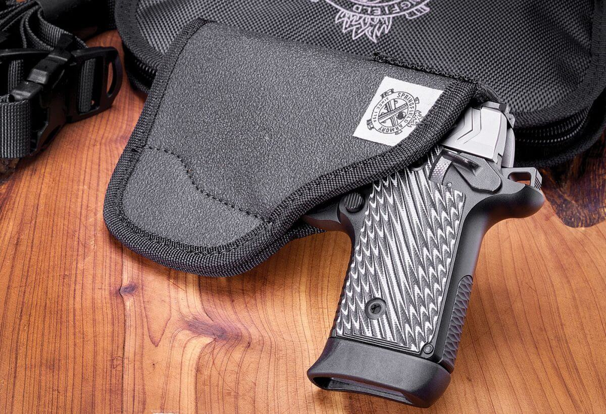 Pocket holster for the Springfield Armory 911 handgun