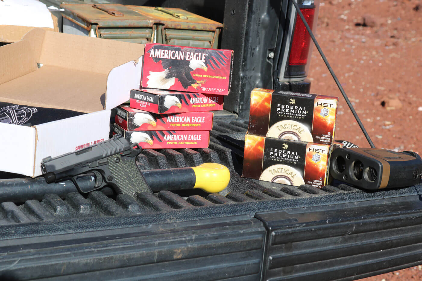 Federal and American Eagle .380 ACP ammo used in long distance testing