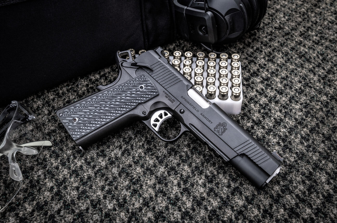Springfield Armory 1911 pistol chambered in 10mm Auto