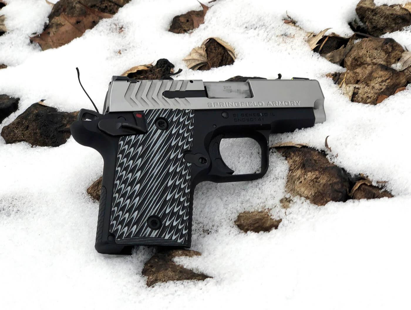 Springfield Armory 911 on snow