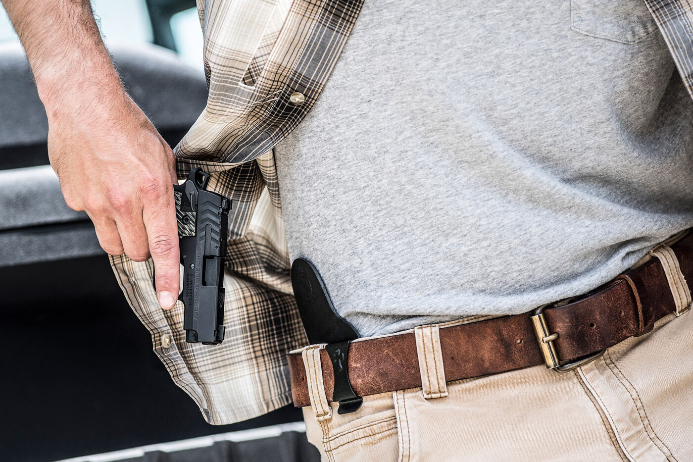 Drawing the Springfield 911 from a Crossbreed Holster
