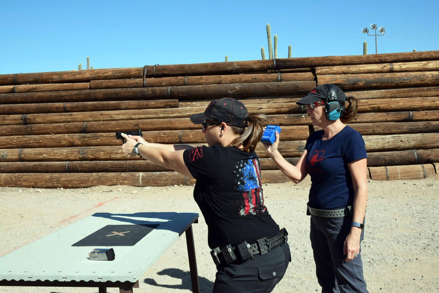 Women in competition shooting