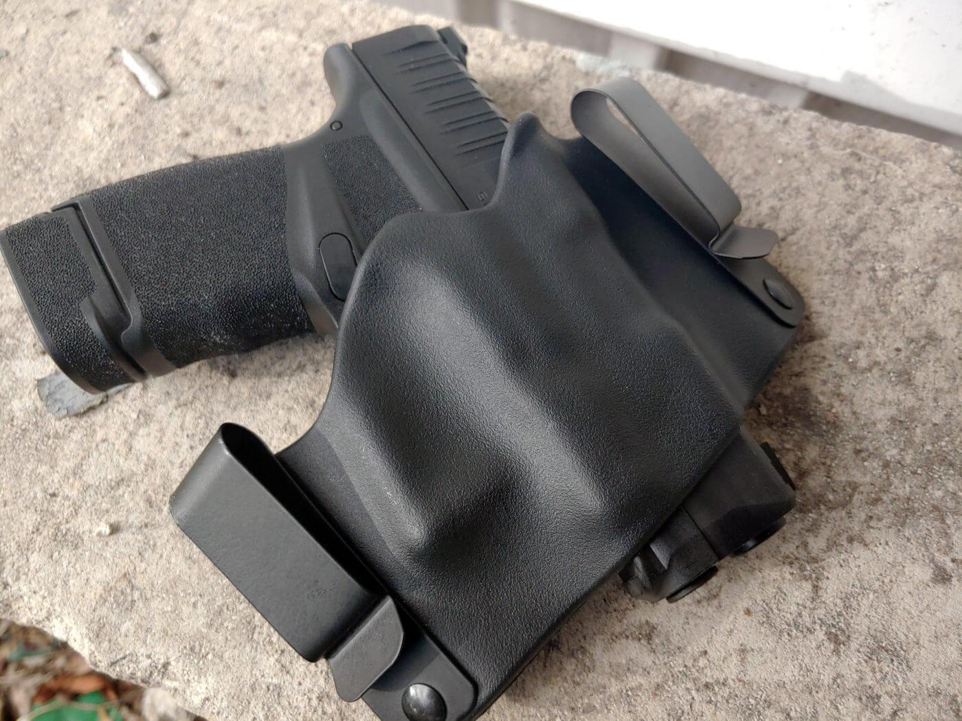 A Phalanx holster for the Hellcat pistol