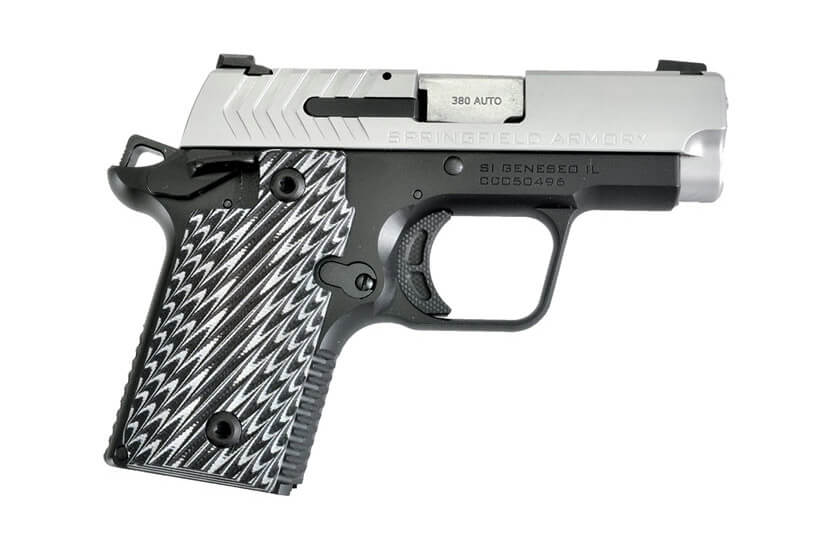 Standard Springfield 911 pistol with G10 grips and night sights