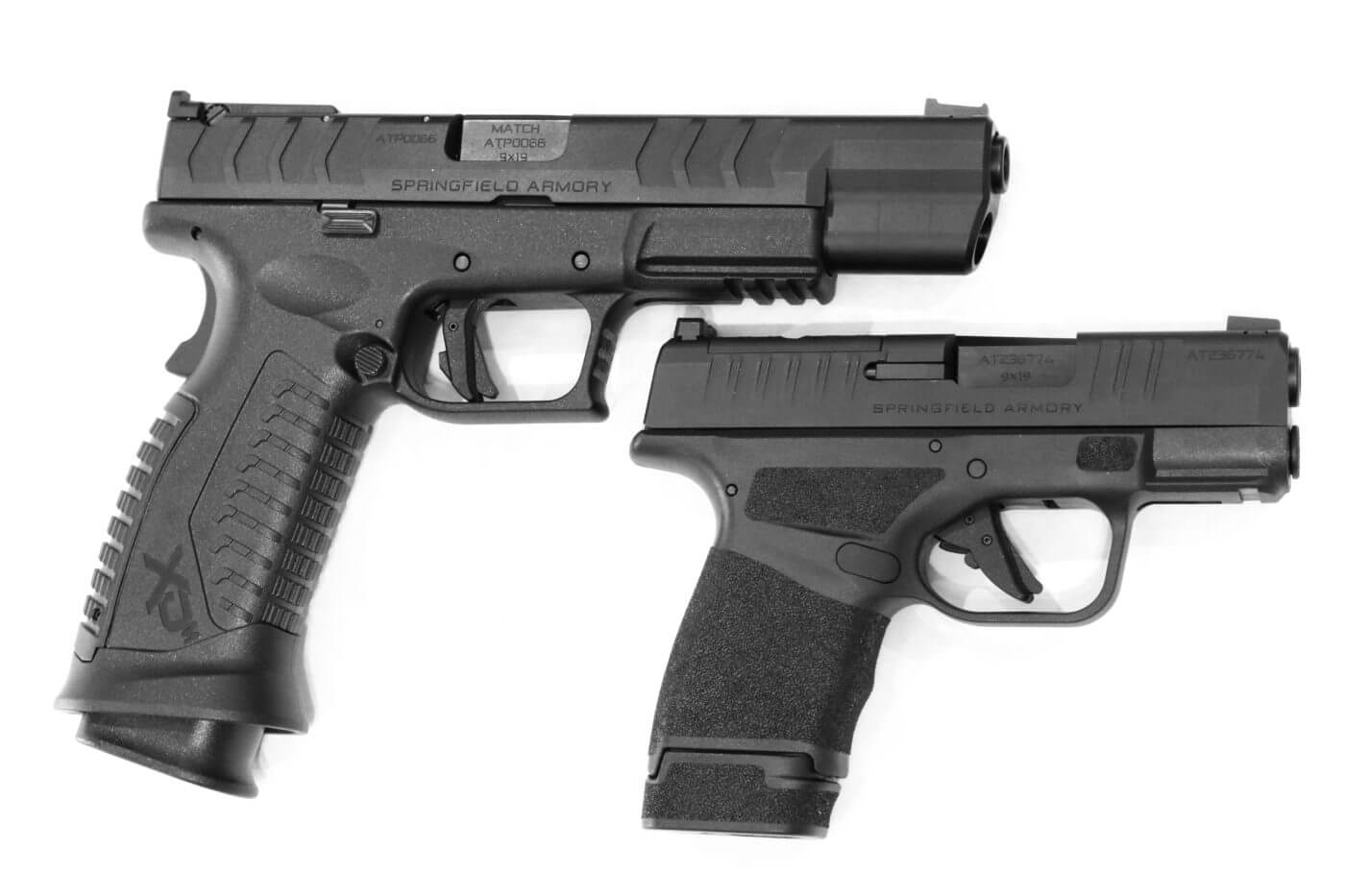 Comparing the grip safety of the XD-M to the safeties on the Hellcat pistol