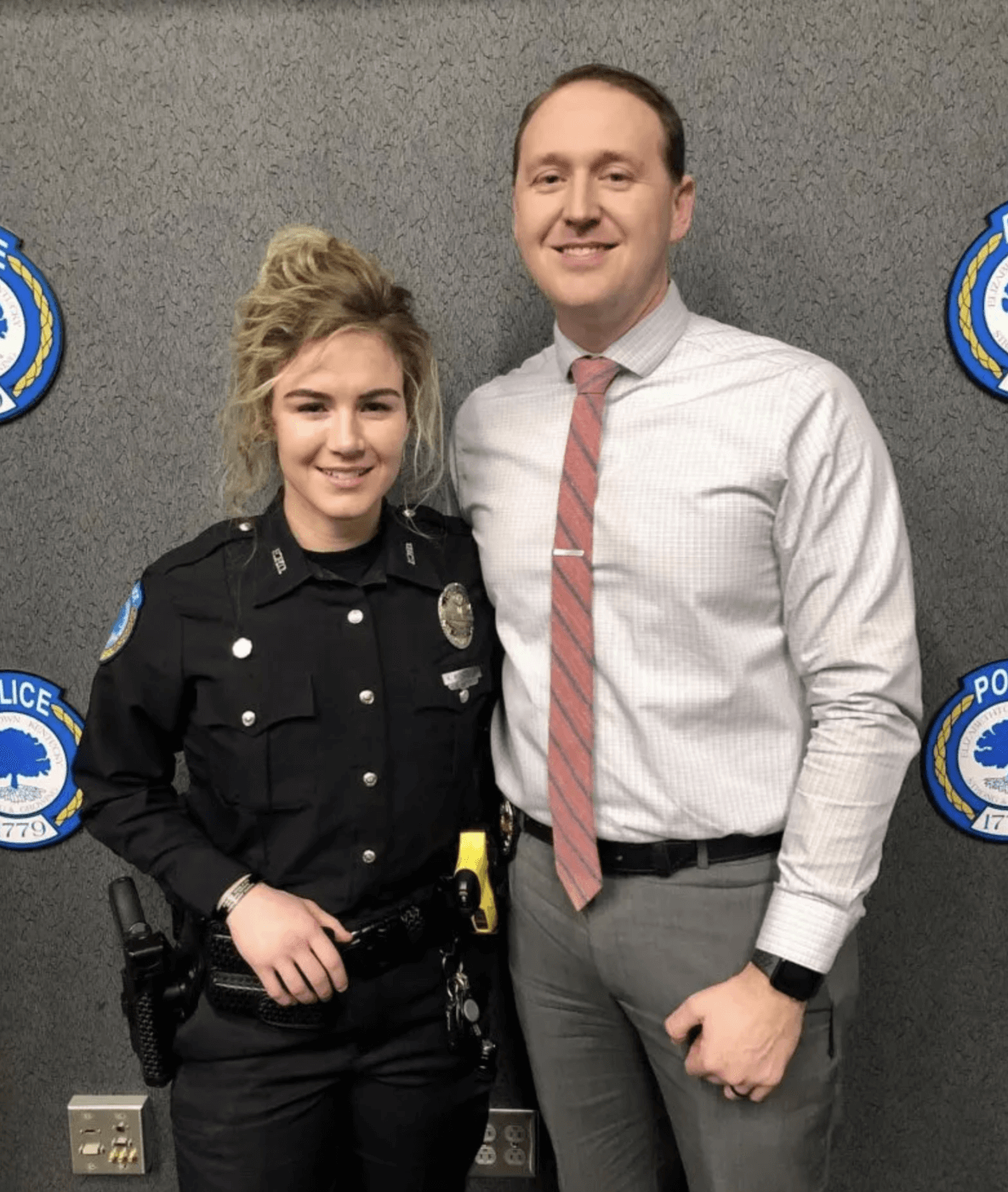 Nicole McKeown and Chase McKeown of the Elizabethtown Police Department
