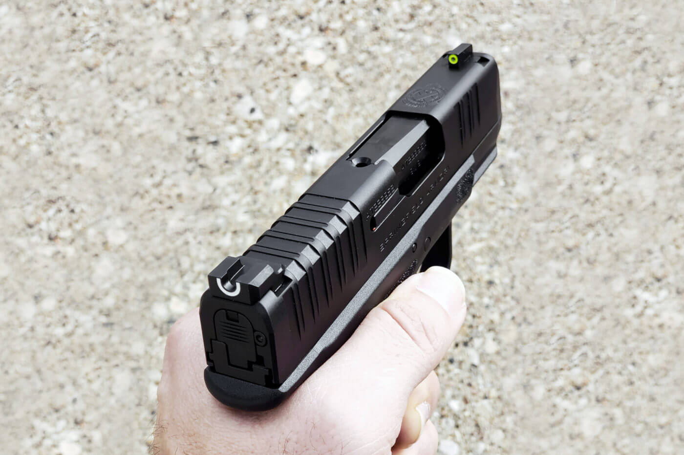 The Springfield Hellcat comes with the best night sights installed at the factory
