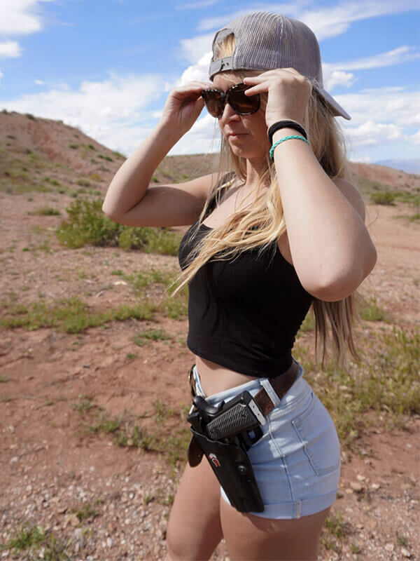 Woman open carry 1911 10mm