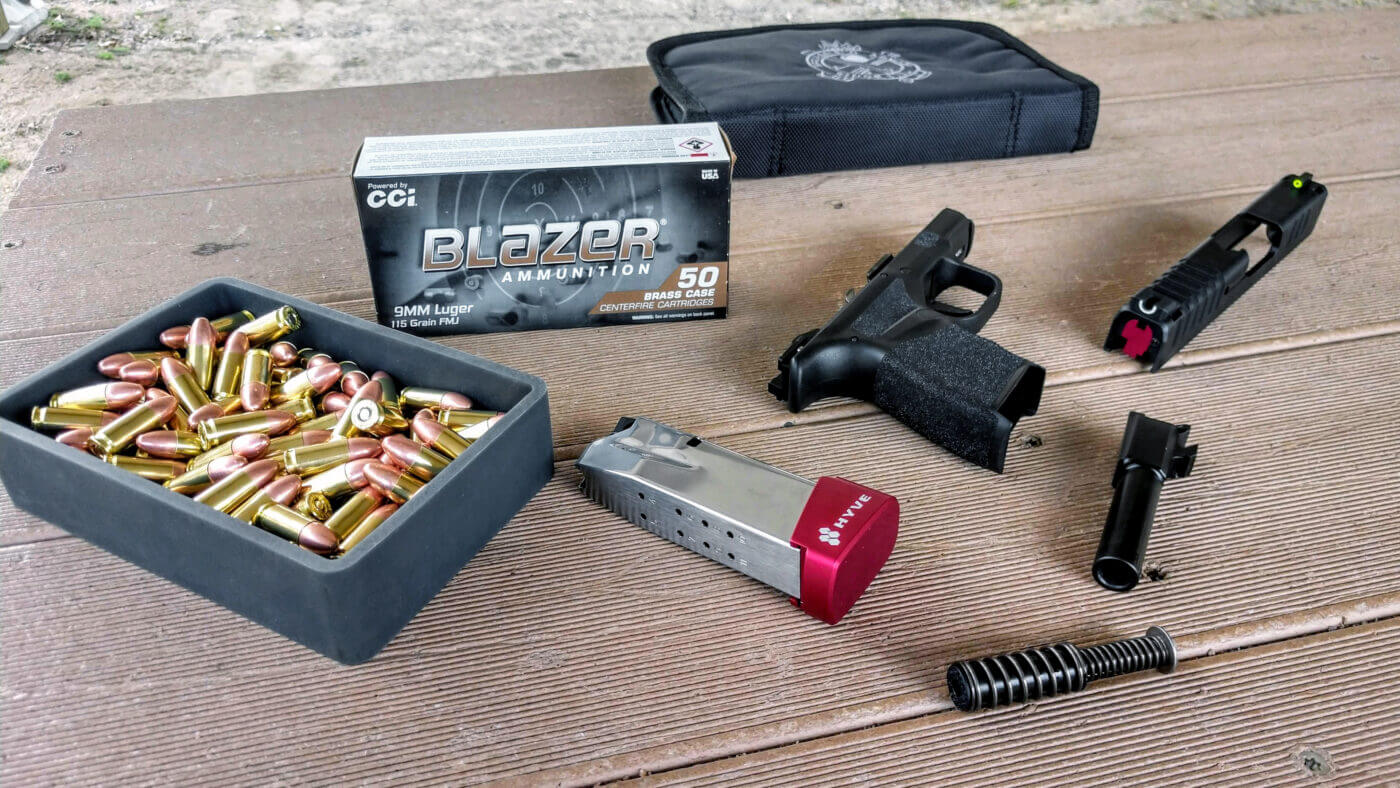 Review of the Hyve mag extension on the Hellcat with a variety of ammo