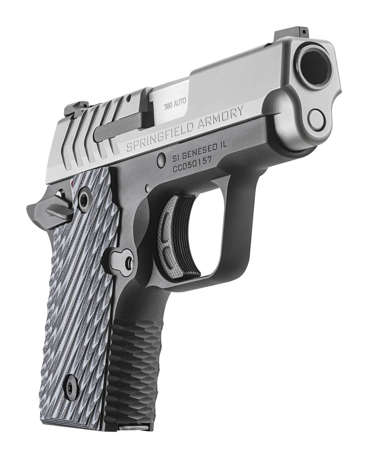 Angle view of the Springfield Armory 911 in .380 ACP