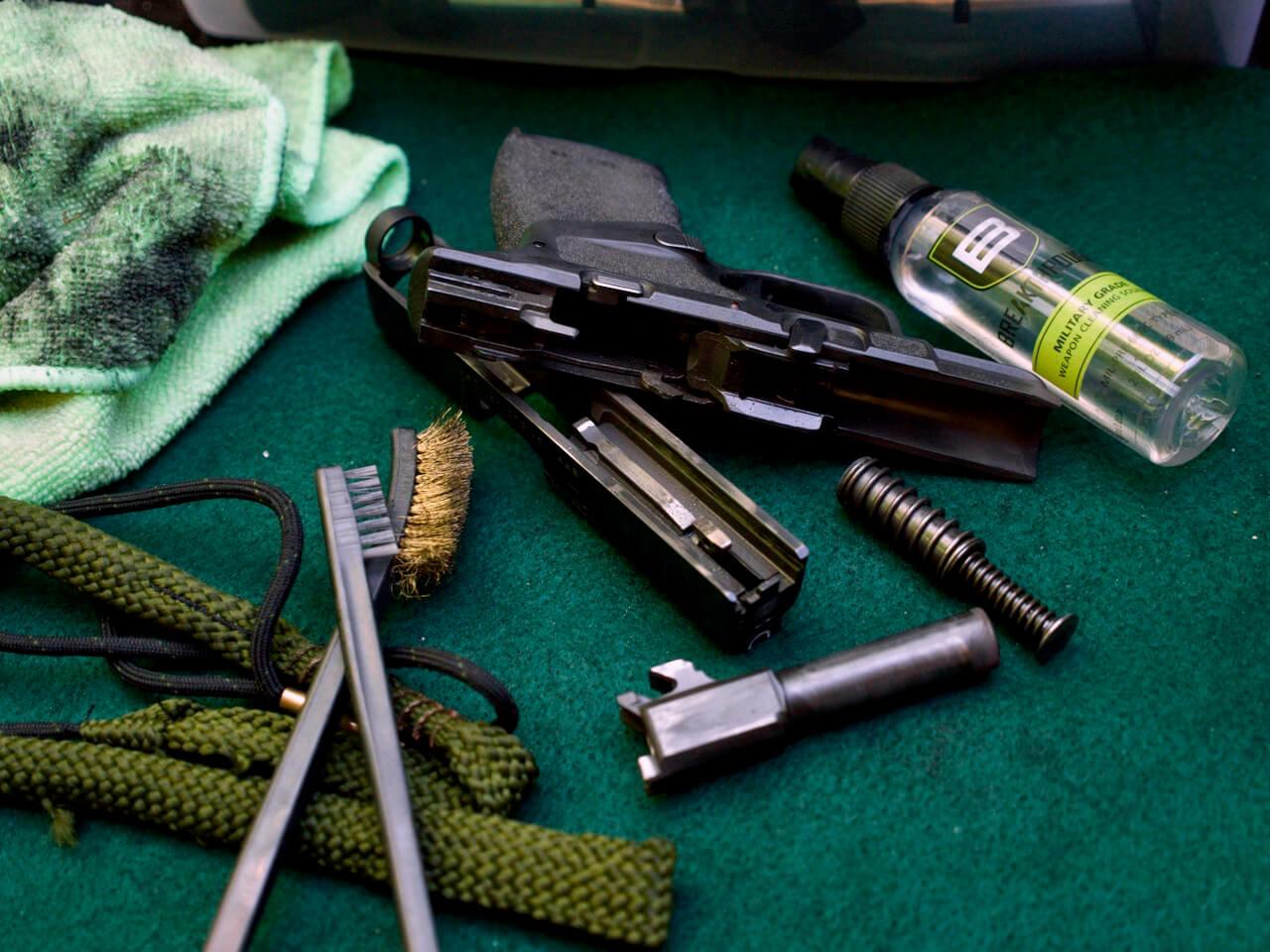 Breakthrough gun oil with a field stripped Hellcat