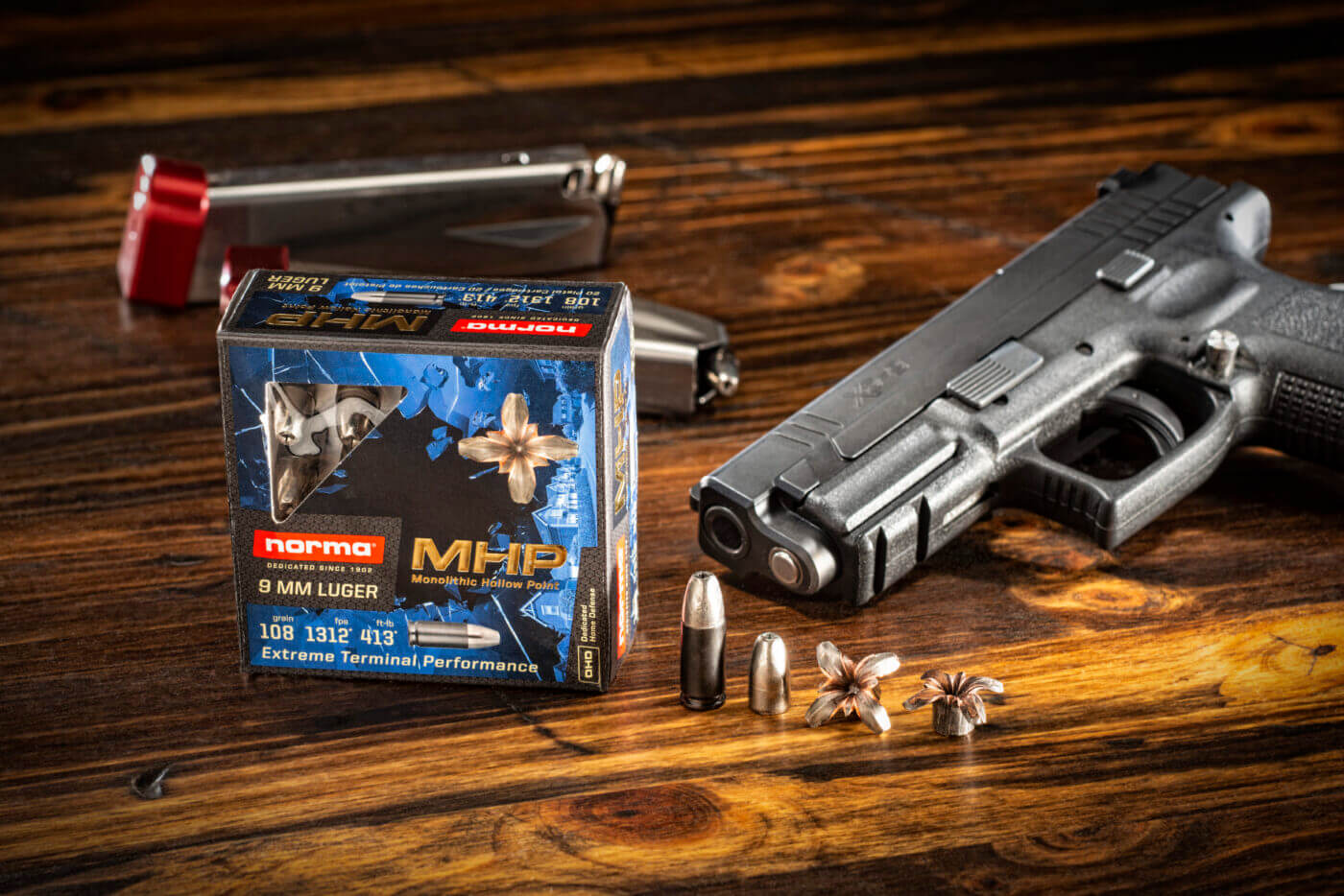 Norma MHP 9mm with Springfield XD duty pistol