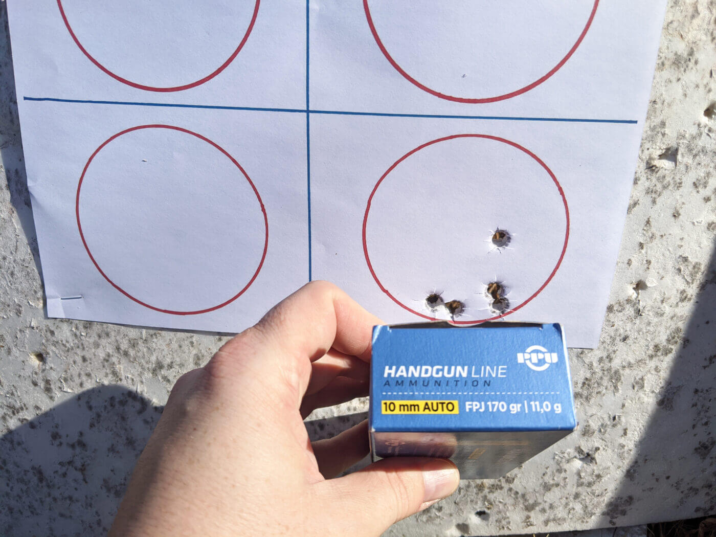 Accuracy testing of 10mm self defense ammo