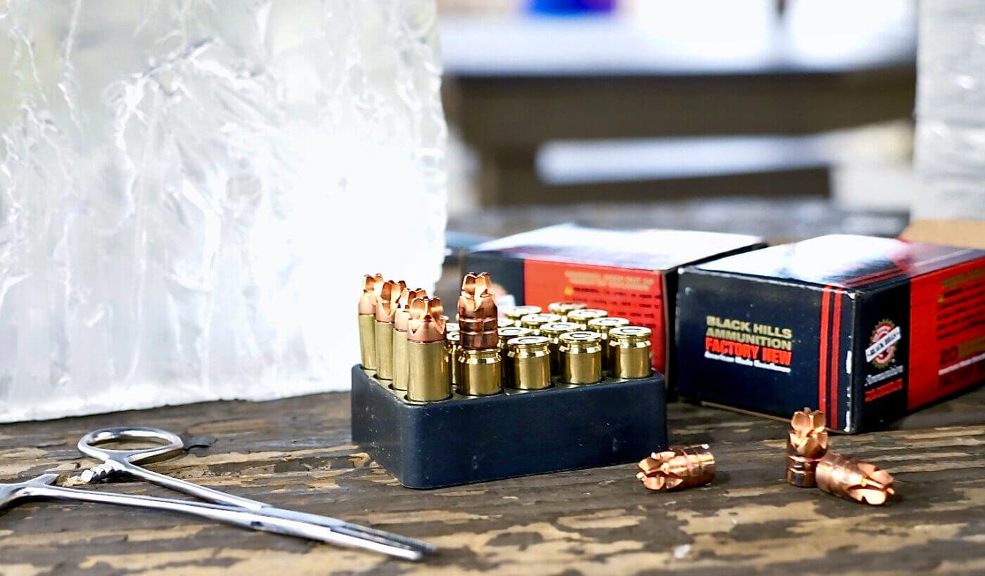 HoneyBager ammo and ballistic testing gel