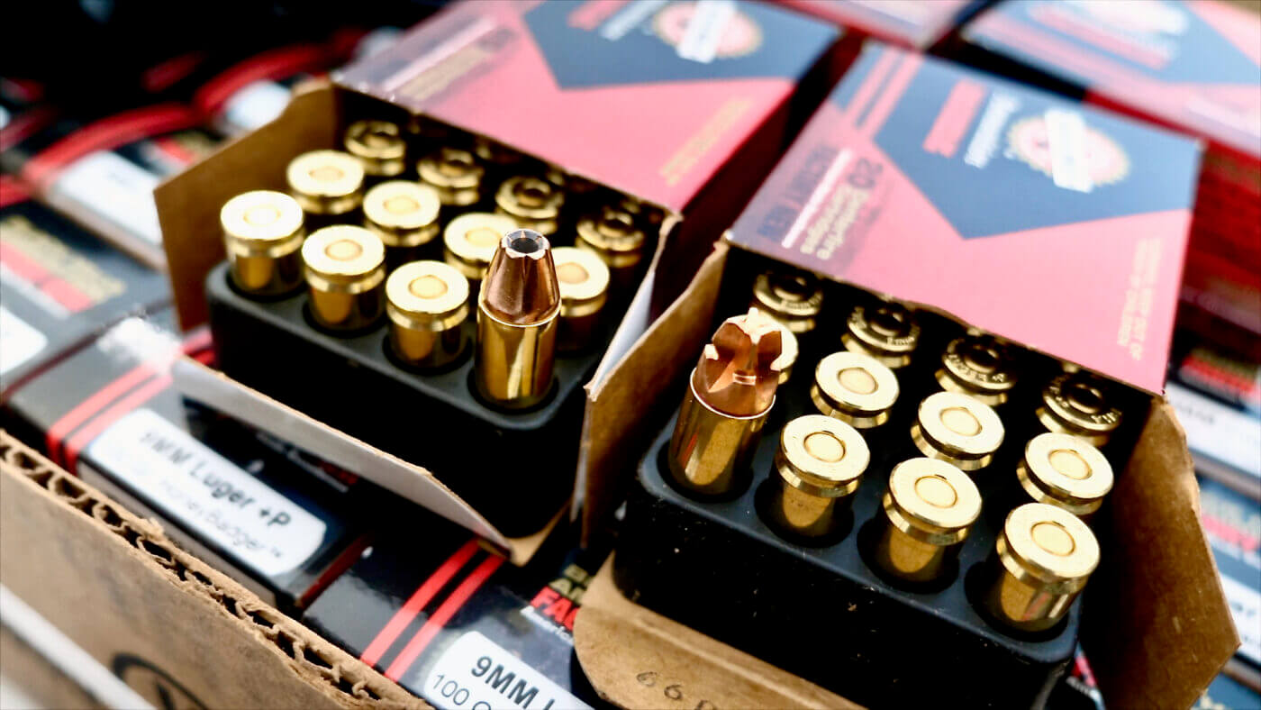 HoneyBadger ammo vs. traditional hollow point bullet