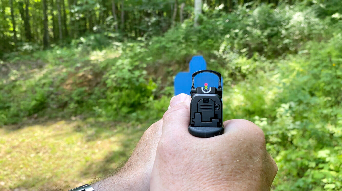 Pistol with red dot sights