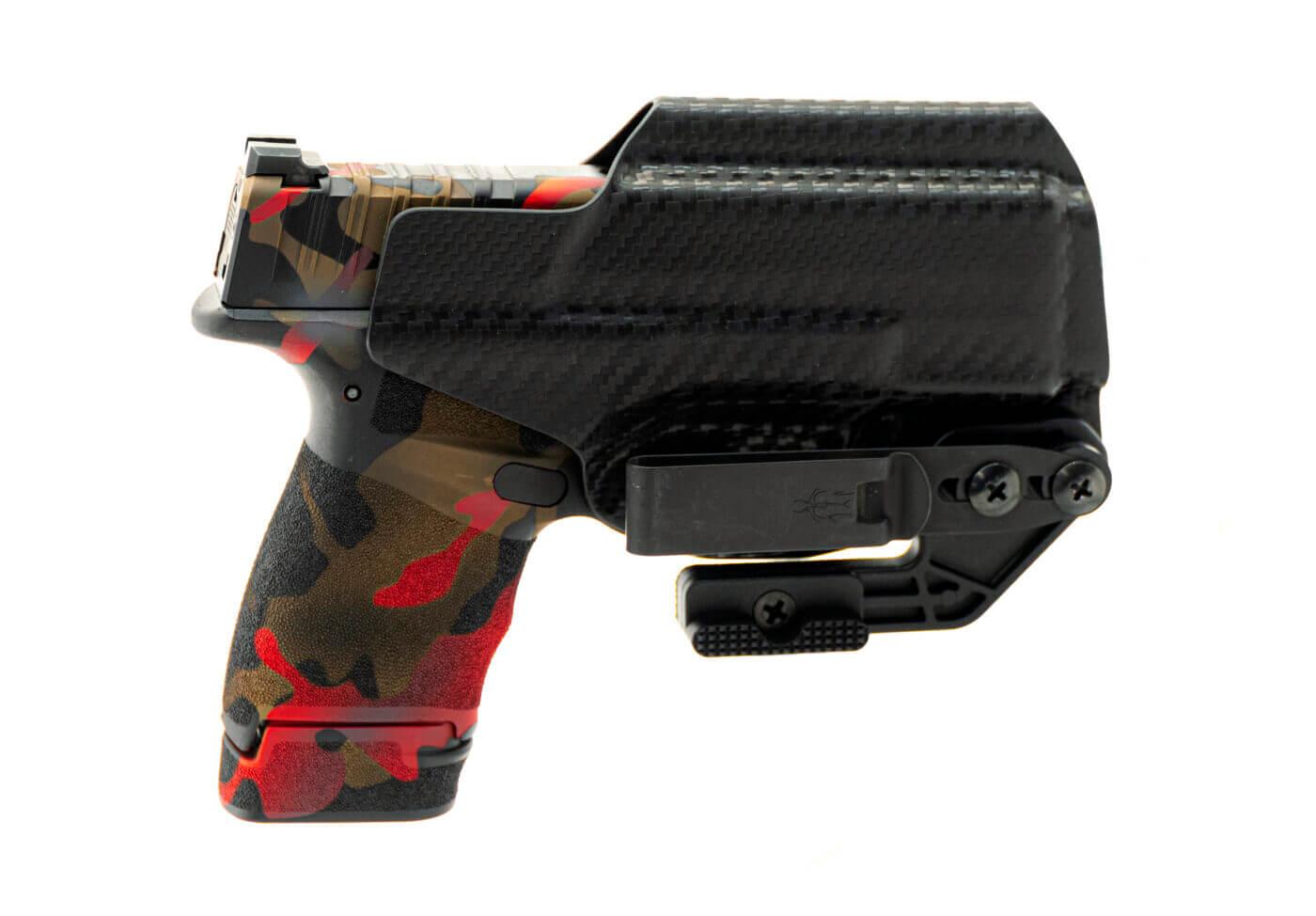 Rayzor's Edge custom Hellcat in a Tulster Oath holster