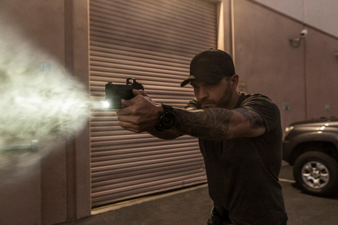 Low light shooting with the SureFire XSC micro weapon light