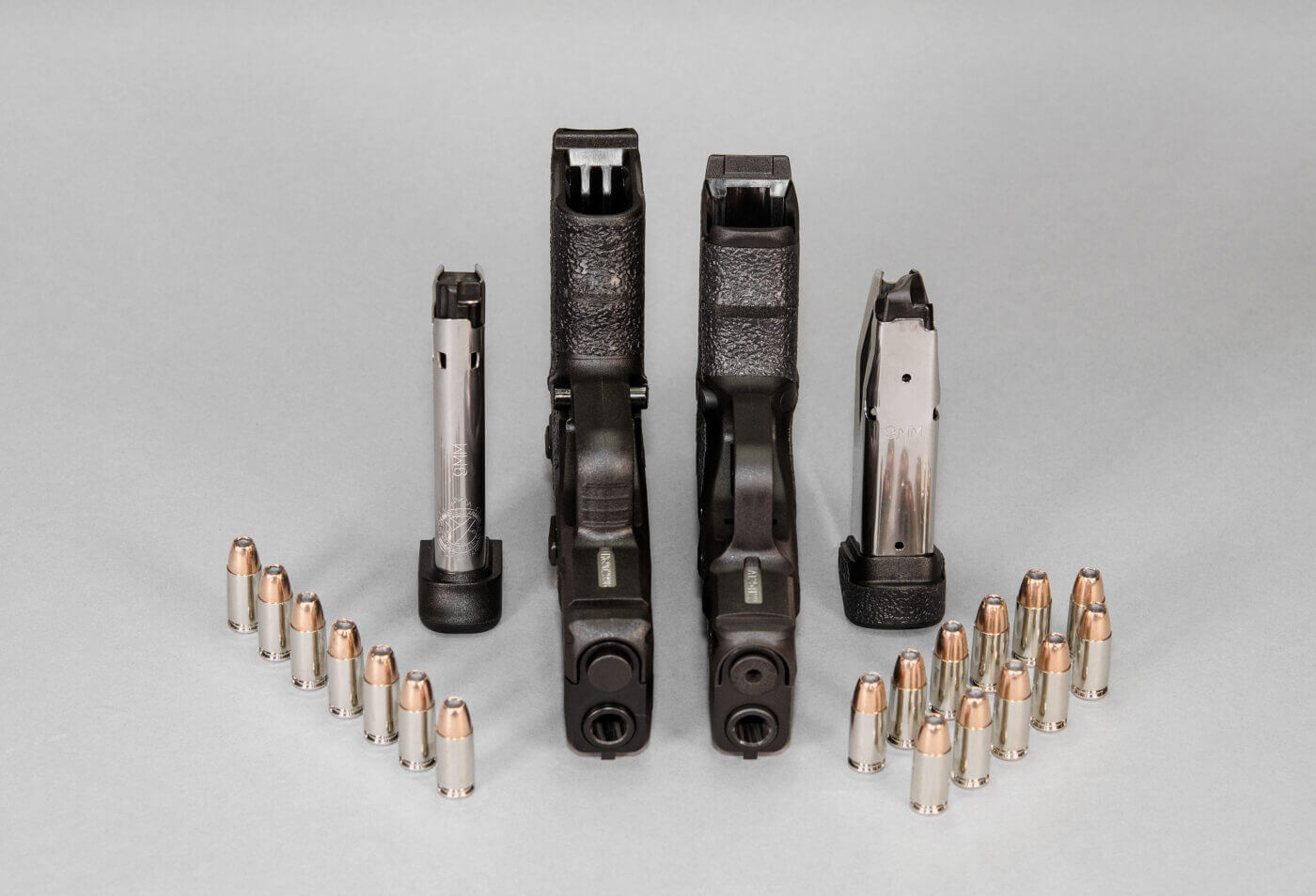 Ammunition capacity compared for the Hellcat and XD-s handguns