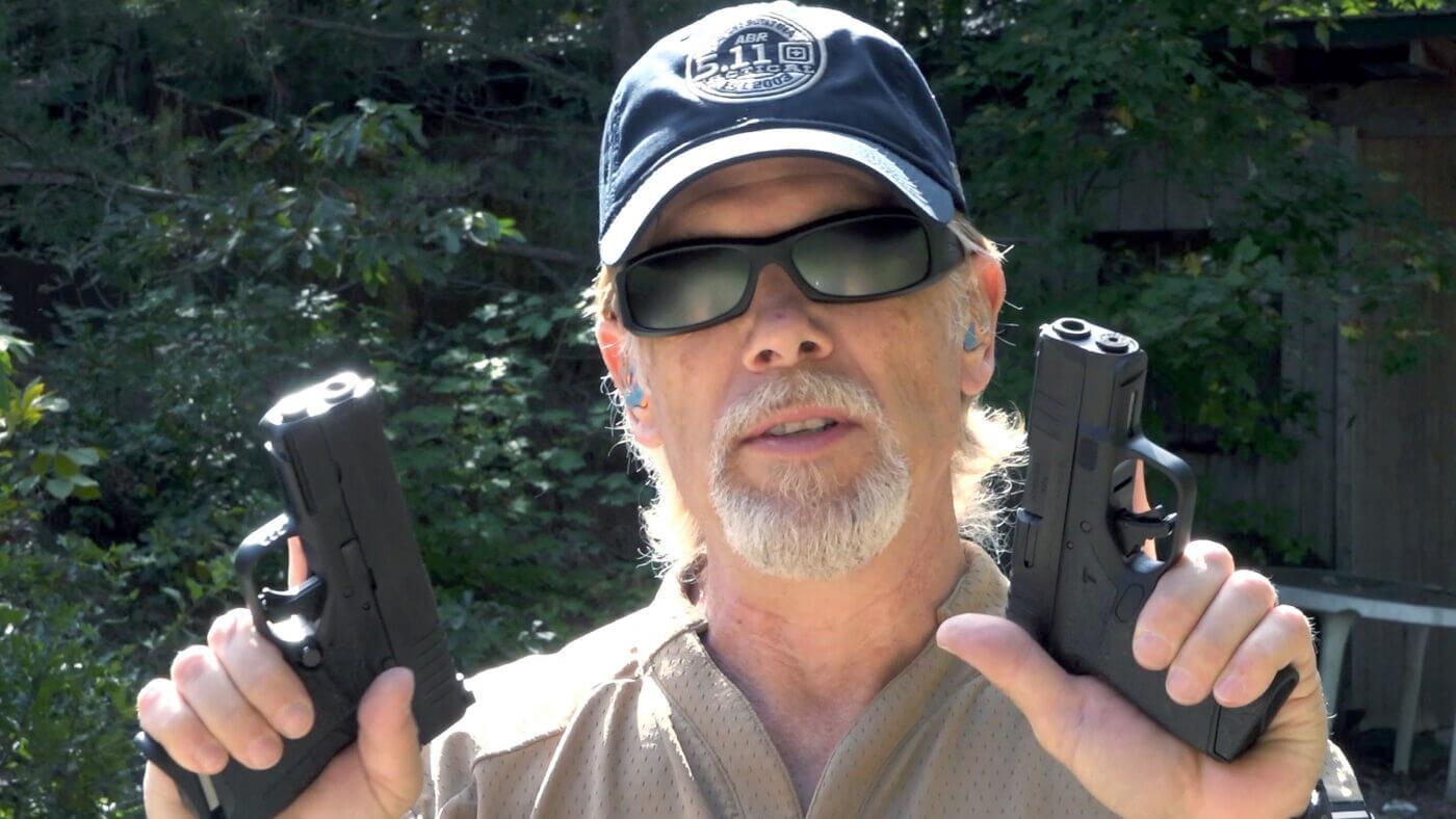 Dual wielding the XD-S and Hellcat handguns