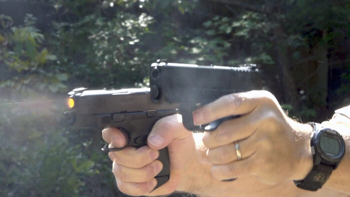 Shooting a pair of single stack pistols