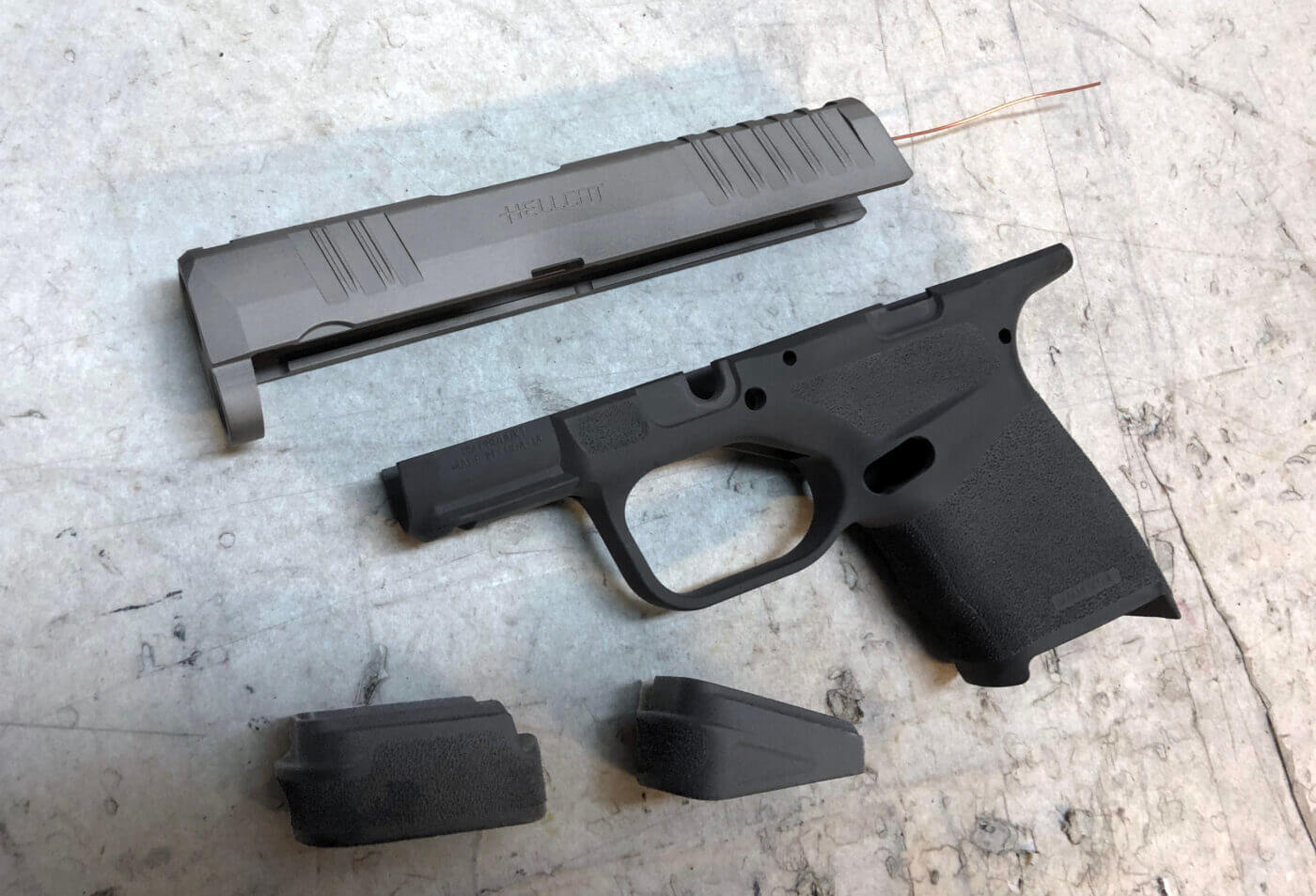 Springfield Hellcat disassembled for cleaning