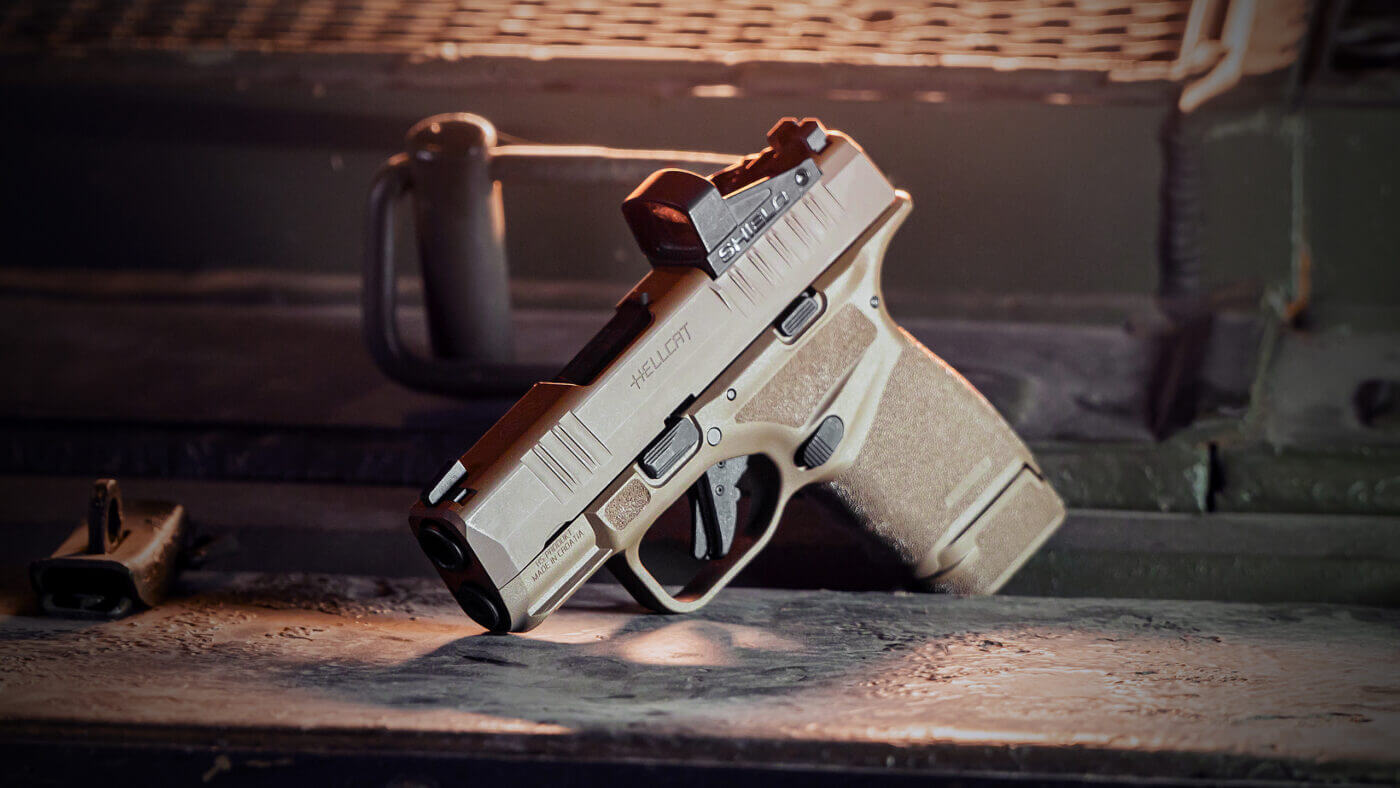 The Springfield Armory Hellcat in FDE trim