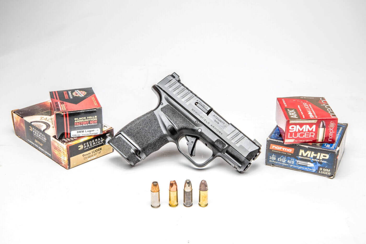 Bullet anatomy with four loads