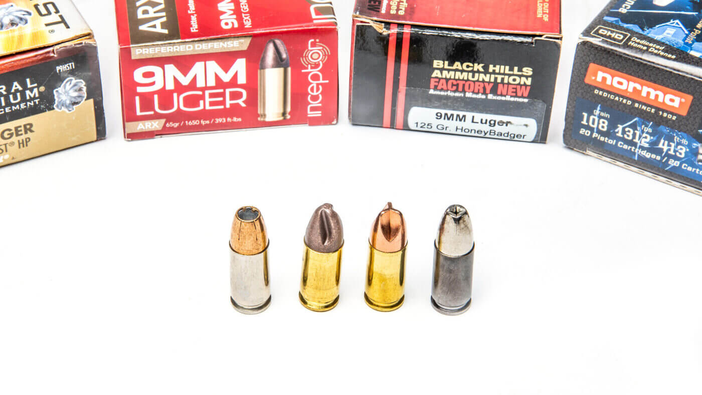 Anatomy of various bullets