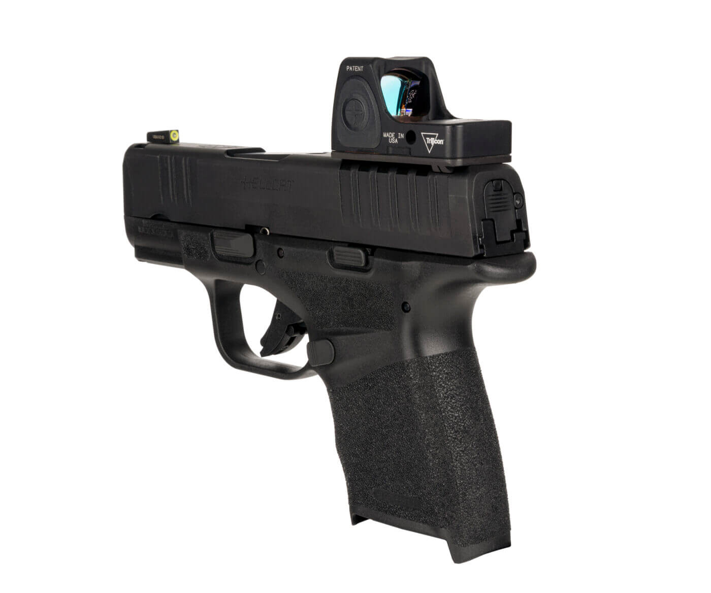 Trijicon's new red dot fits on the Hellcat with an adaptor mount