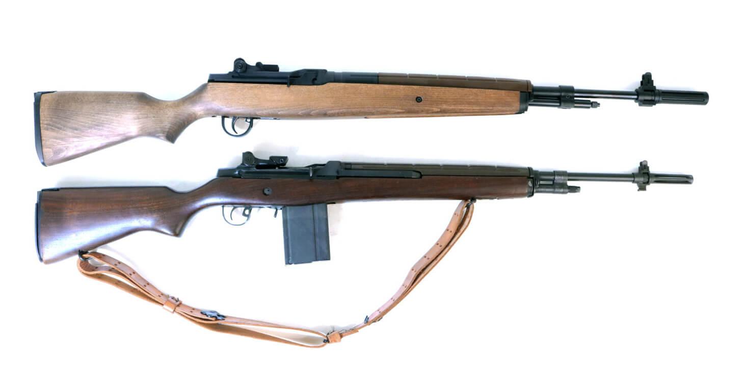 Springfield Armory M1A alongside an Air Venturi M1A Pellet Rifle