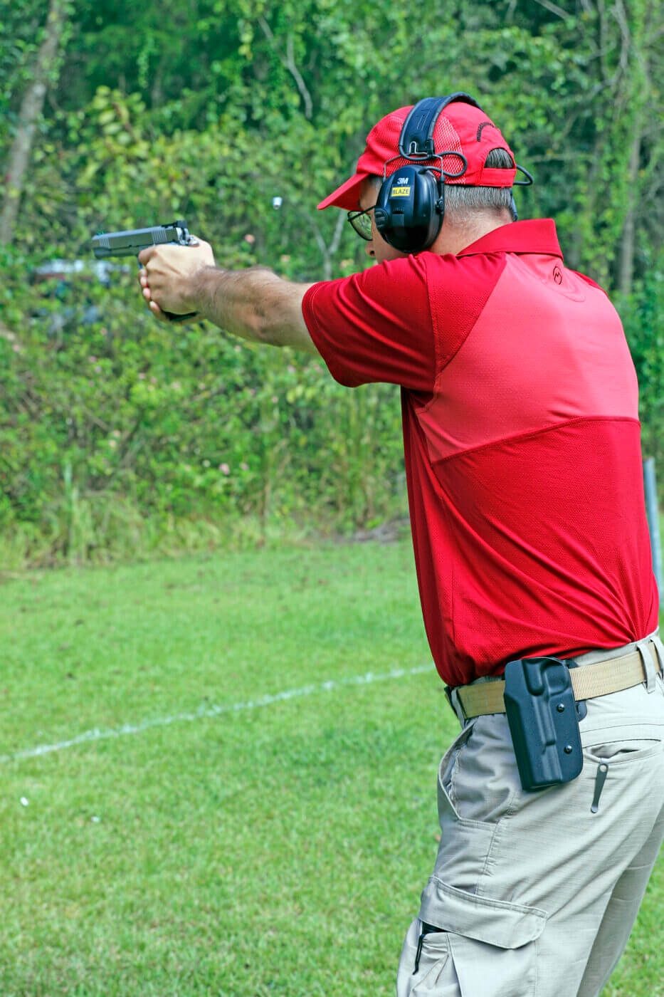 Col. Dave Blazek in a shooting match