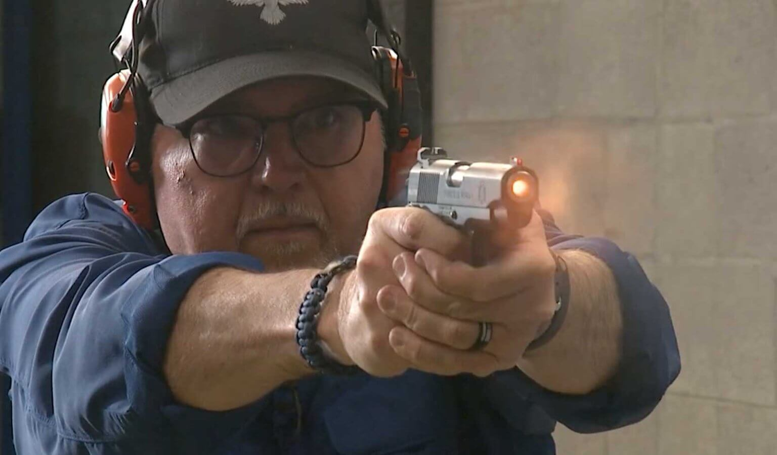 Shooting the Federal HST defensive ammo from a compact 1911 pistol