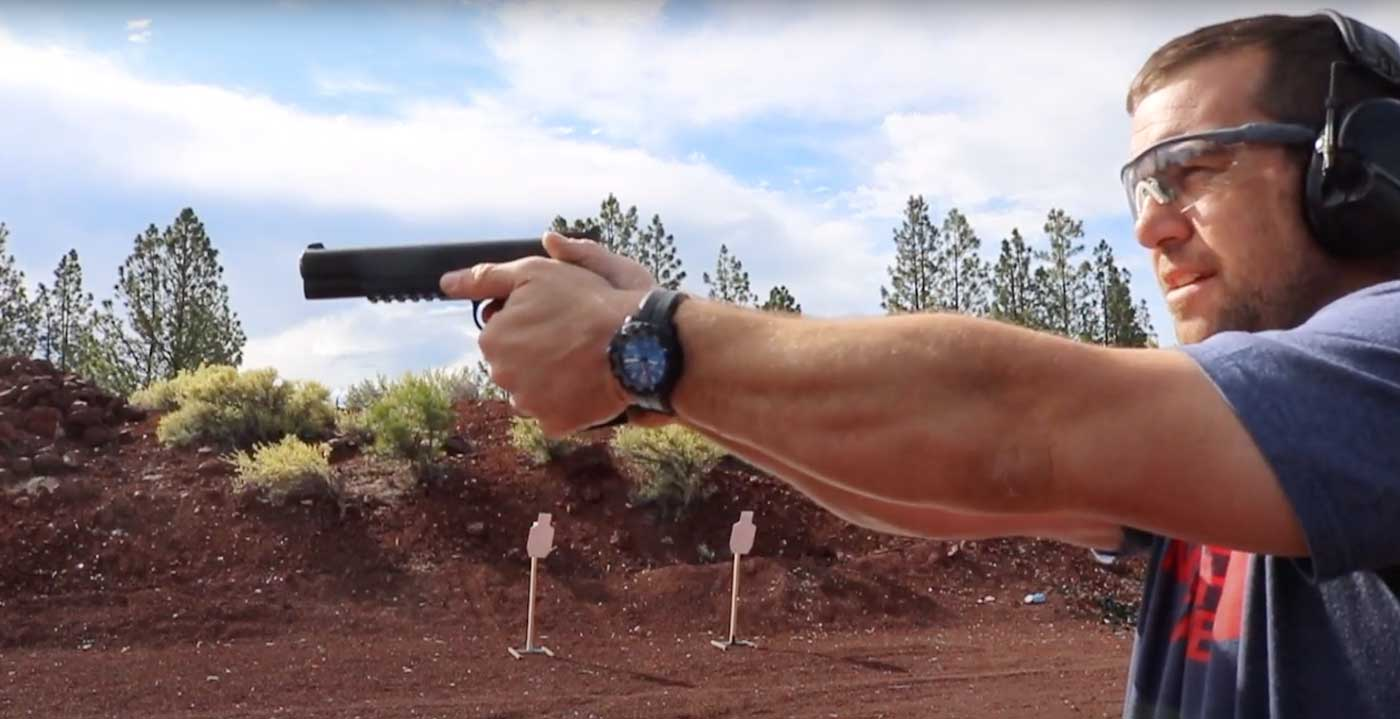 Shooting the 10mm HST bullet through a Springfield Armory Range Officer 1911