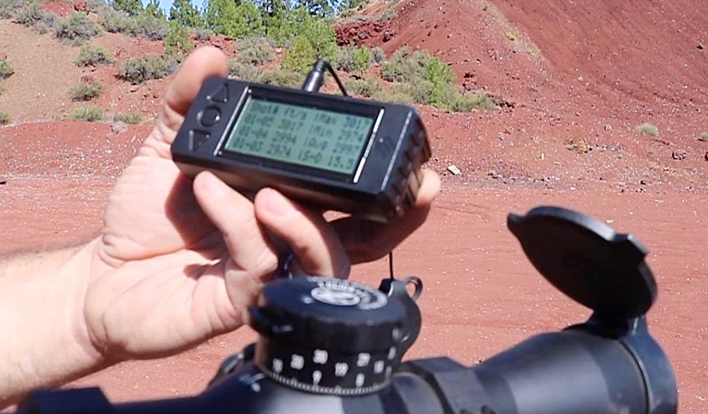 Velocity measurements taken on a MagnetoSpeed