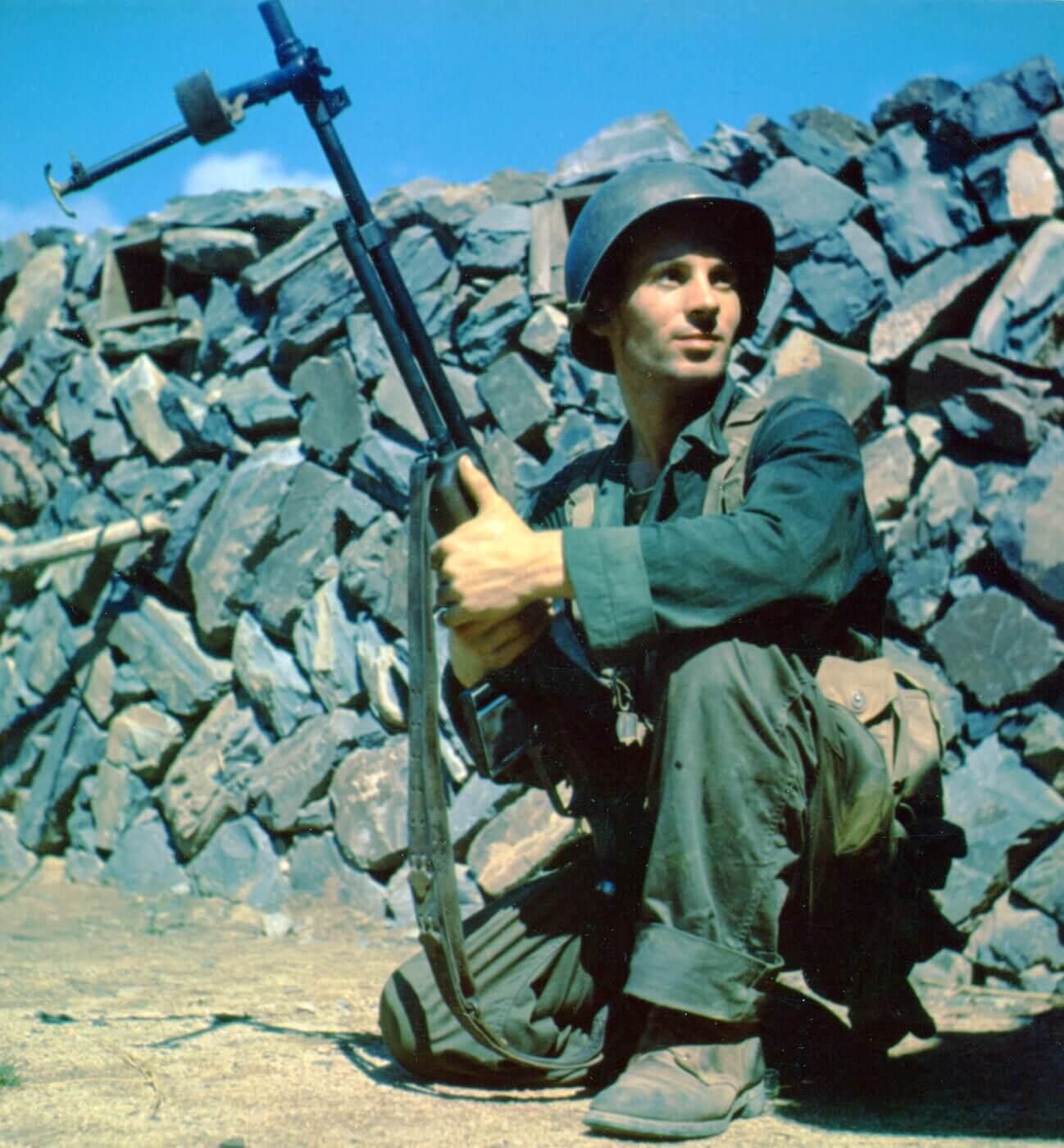 BAR gunner in Korea circa 1952