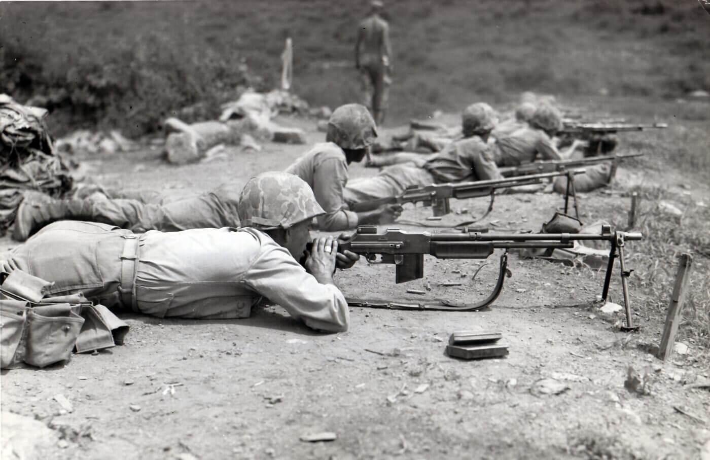 BAR rifle training in Korea circa 1952