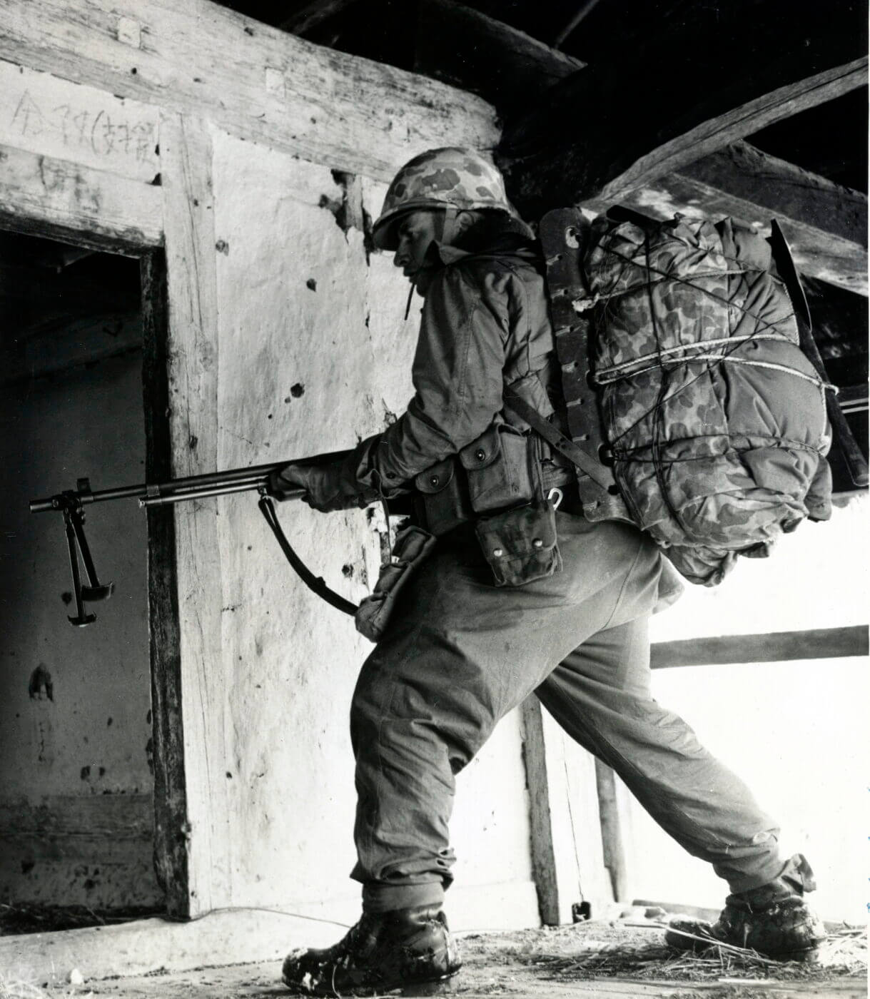 Soldier carrying a BAR