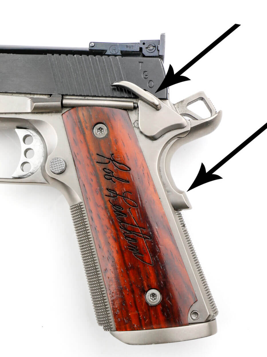 1911 pistol safeties