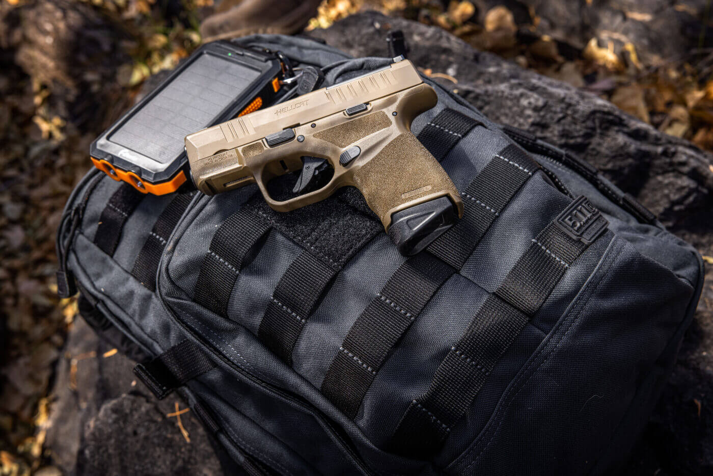 5.11 Tactical RUSH Bag with Hellcat pistol