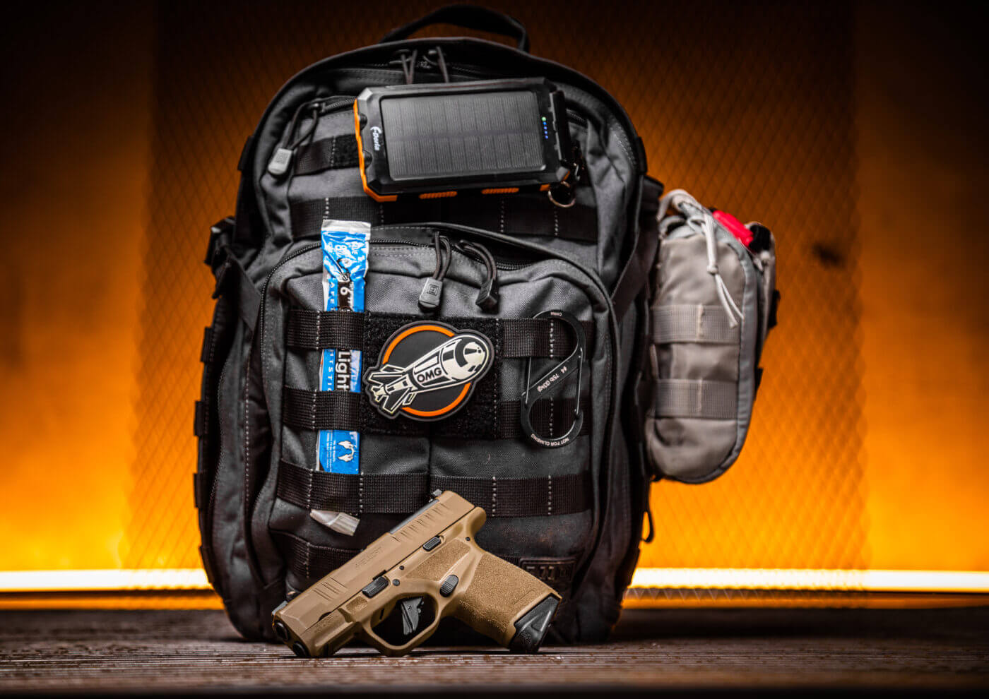 5.11 Tactical RUSH Pack with Hellcat pistol