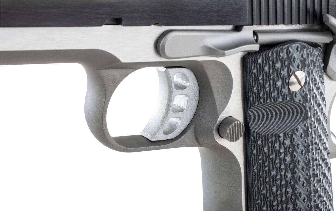 """Harris Custom """"Tri-Cav"""" trigger in the Ronin 1911 pistol"""