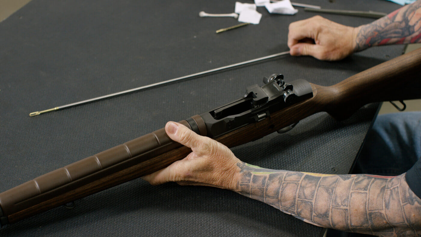 Cleaning an M1A rifle