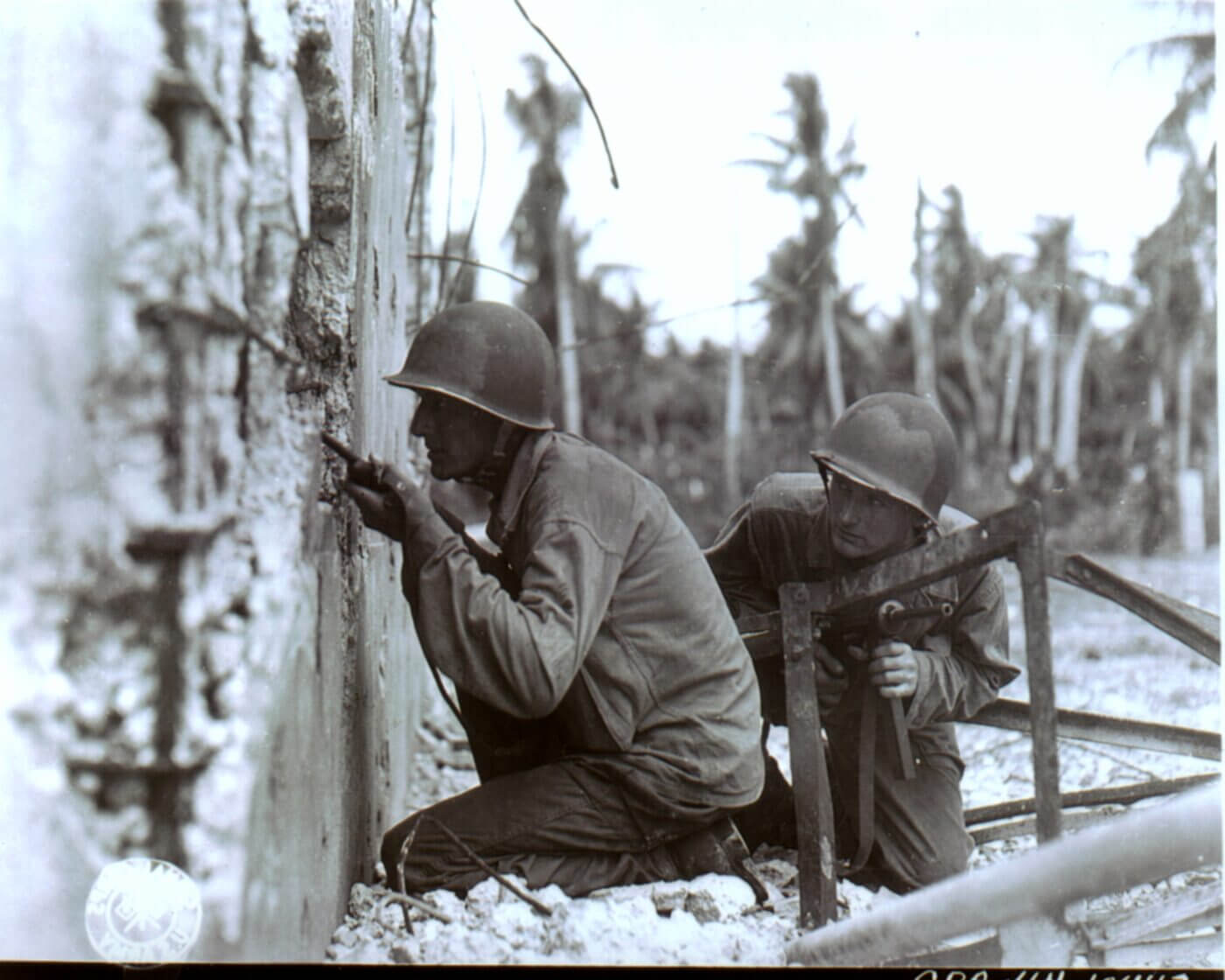 GIs of the 81st Division on Ulithi Atoll