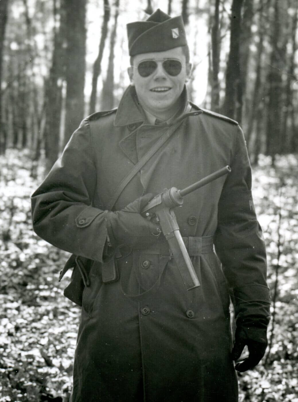 GI armed with the M3 SMG in post-war Germany