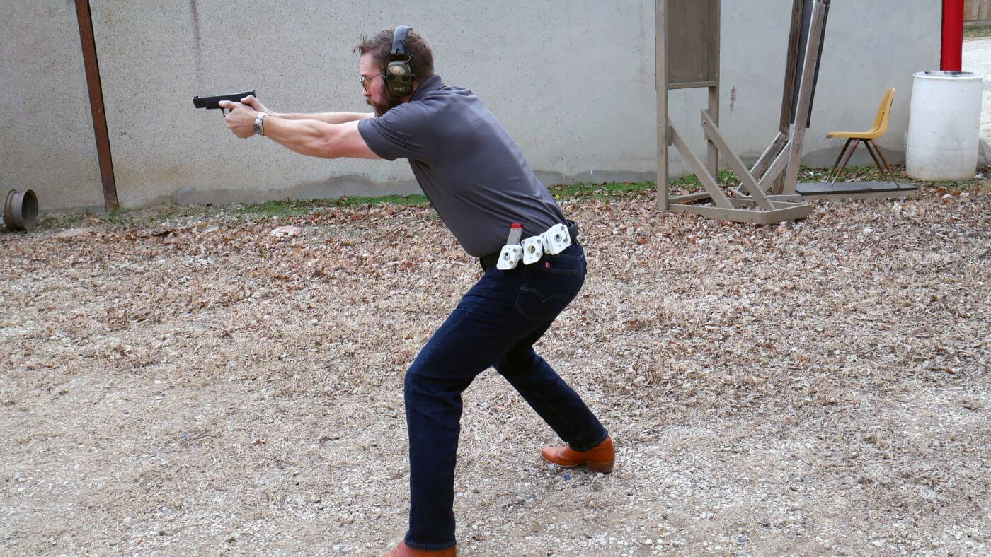 Aggressive stance for managing recoil