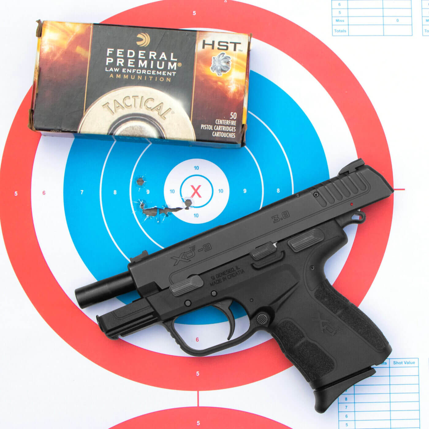 Test target from XD-E