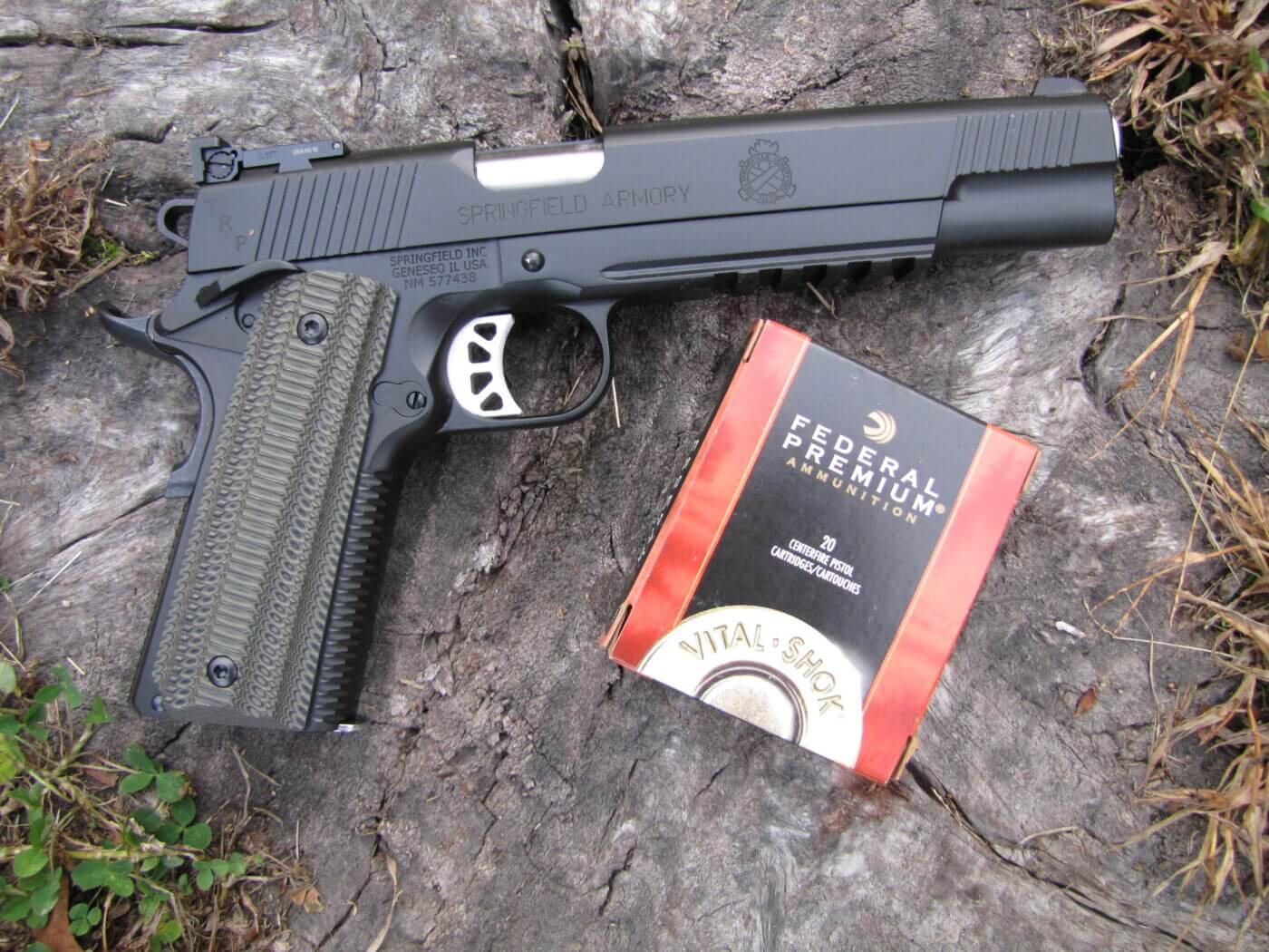 Springfield 1911 TRP with Federal hunting ammo
